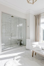 Glass Enclosed Wet Room - Bathroom Renovations in Vaughan by Royal Interior Design Ltd