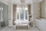 Stunning White Bathroom Renovations in Richmond Hill ON by Royal Interior Design Ltd