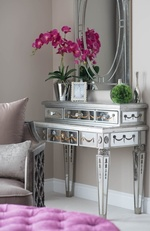 Modern Silver Dressing Table - Bedroom Renovation Service Aurora by Royal Interior Design Ltd