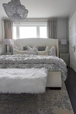 King Size Bed in Bedroom - Renovation Services Aurora by Royal Interior Design Ltd