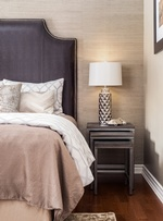 Modern Lamp Shade on Side Table - Markham Bedroom Decor by Royal Interior Design Ltd