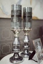 Two Candle Holders on Accent Table - Bedroom Renovations Newmarket by Royal Interior Design Inc
