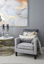 Modern Accent Chair - Bedroom Renovation Service Aurora by Royal Interior Design Inc