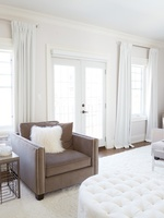 Accent Chair with Faux Fur Pillows - Stouffville Bedroom Renovations by Royal Interior Design Ltd