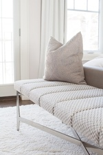 Beige Pillow on Bed End Bench - Bedroom Renovation in Aurora by Royal Interior Design Ltd
