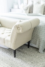 Bed End Chaise Lounge - Bedroom Decor in Vaughan by Royal Interior Design Ltd