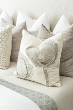 Pillow Arrangements on Queen Bed - Richmond Hill Bedroom Decorations by Royal Interior Design Ltd