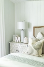 Side Table with Lamp Shades and Accents - Bedroom Renovation Vaughan by Royal Interior Design Ltd