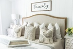 Throw Pillows on Queen Size Bed - Bedroom Renovations Aurora by Royal Interior Design Ltd