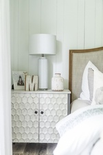White Lamp Shade on Side Table - Bedroom Renovations Newmarket ON by Royal Interior Design Ltd