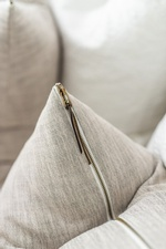 Zipped Pillow on Bed - Whitby Bedroom Decorations by Royal Interior Design Ltd