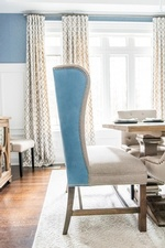 Blue Winged Chair - Luxury Dining Room Renovations Richmond Hill ON by Royal Interior Design Ltd