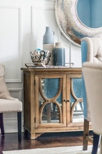 Decorative Accents on Console Cabinet - Dining Room Renovations Thornhill by Royal Interior Design Ltd