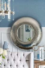 Framed Mirror on Wall - Dining Room Design Aurora by Royal Interior Design Ltd