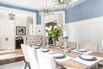 Modern Chandelier - Dining Room Renovation Aurora by Royal Interior Design Ltd