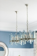 Modern Chandelier - Dining Room Renovation Newmarket by Royal Interior Design Ltd