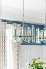 Modern Glass Chandelier - Dining Room Renovations Aurora by Royal Interior Design Ltd
