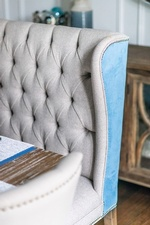 Modern Upholstered Dining Chair - Dining Room Renovations Richmond Hill by Royal Interior Design Ltd