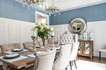 Upholstered Dining Chairs - Dining Room Renovation Richmond Hill by Royal Interior Design Ltd