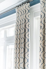 Window Curtains - Whitby Dining Room Renovations by Royal Interior Design Ltd