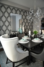 Modern Chandelier - Richmond Hill Dining Room Renovations by Royal Interior Design Ltd
