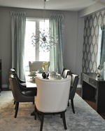 Elegant Baby Blue Dining Room Renovations Thornhill by Royal Interior Design Ltd