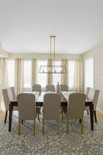 Grey and Gold Look Dining Room Design Markham by Royal Interior Design Ltd