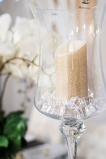 Candle in Glass - Dining Room Renovations Aurora by Royal Interior Design Ltd
