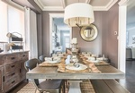 Fine Dining Table Arrangement - Rustic Dining Room Renovations Vaughan by Royal Interior Design Ltd