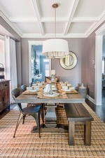 Rustic Dining Room Design Whitby by Royal Interior Design Ltd