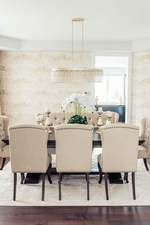 Cream and Gold Dining Room Design Newmarket ON by Royal Interior Design Ltd