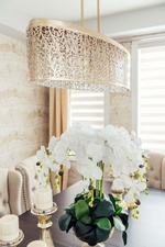 Luxurious Chandelier in Dining Room - Decoration Services Richmond Hill by Royal Interior Design Ltd