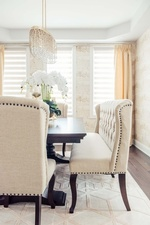 Tufted Dining Sofa - Dining Room Decoration Services in GTA by Royal Interior Design Ltd
