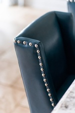 Black Leather Dining Chair - Kitchen Renovation GTA by Royal Interior Design Ltd