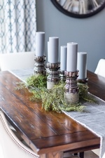 Candle Holders on Table - Kitchen Renovation Vaughan by Royal Interior Design Ltd