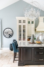 Crystal Chandelier - Kitchen Renovations Richmond Hill by Royal Interior Design Ltd