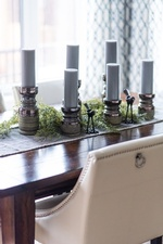 Decorative Candle Holders on Dining Table - Kitchen Decor Richmond Hill by Royal Interior Design Ltd