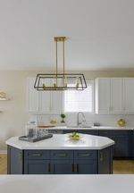 Uplight Chandelier - Kitchen Renovations Newmarket by Royal Interior Design Ltd