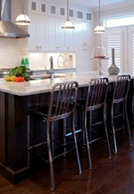Modern Kitchen Counter Chairs - Kitchen Renovations Thornhill by Royal Interior Design Ltd