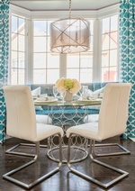 Dining Space near Bay Window - GTA Kitchen Renovation by Royal Interior Design Ltd