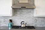 Stainless Steel Kettle on Gas Stove - Kitchen Renovations Whitby by Royal Interior Design Ltd