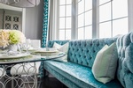 Tufted Dining Sofa - King City Kitchen Renovation by Royal Interior Design Ltd