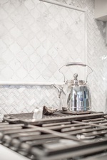 Stainless Steel Kettle on Gas Stove - King City Kitchen Renovations by Royal Interior Design Ltd