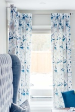 Floral Print Window Draperies - Kitchen Renovations Stouffville by Royal Interior Design Ltd