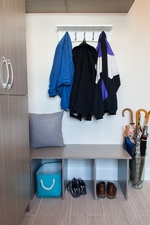 Clothes Hanged on Wall - Mud Room Renovation Services Stouffville by Royal Interior Design Ltd