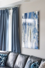 Abstract Painting on Wall - Living Space Decorating Services Thornhill by Royal Interior Design Ltd