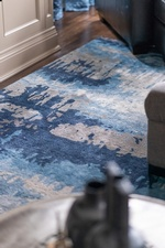 Blue Area Rug - Living Space Decorating Services Thornhill ON by Royal Interior Design Ltd