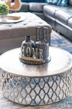 Decorative Accents on Coffee Table - Living Space Renovations Whitby by Royal Interior Design Ltd