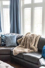 Faux Fur Throw Blanket on Sofa - Living Space Renovations Stouffville by Royal Interior Design Ltd