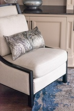 Luxury Throw Pillow on Accent Chair - Living Space Decorating Whitby by Royal Interior Design Ltd